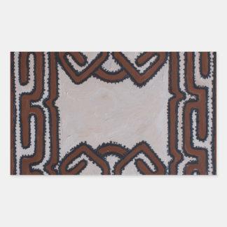 Paño del Tapa de Papúa Nueva Guinea Pegatina Rectangular