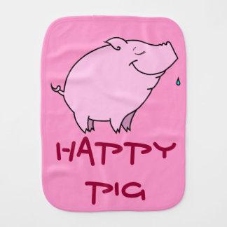 Paño feliz del Burp del bebé del cerdo Paños De Bebé