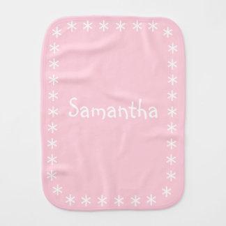 Paño femenino del Burp del bebé del chica del rosa Paños Para Bebé