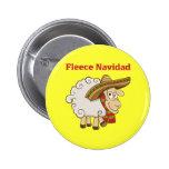 Paño grueso y suave Navidad Pin Redondo 5 Cm