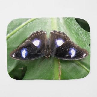 Paño manchado azul hermoso del Burp de la mariposa Paños Para Bebé