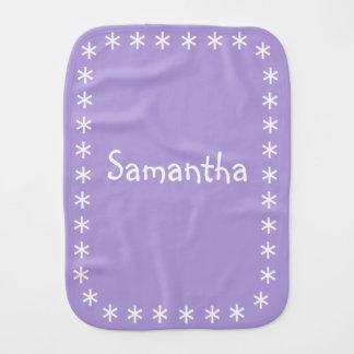 Paño púrpura en colores pastel del Burp para el Paños De Bebé
