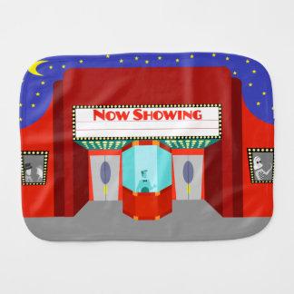 Paño retro del Burp del bebé del cine Paños Para Bebé