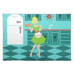Paño retro Placemat de la cocina Manteles Individuales