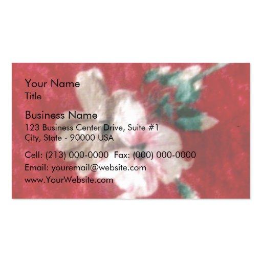 Paño rojo del terciopelo tarjetas de visita
