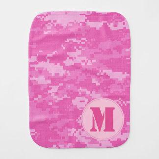 Paño rosado del Burp del camuflaje del ACU Camo Paños De Bebé