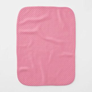 Paño rosado del Burp del lunar Paños De Bebé