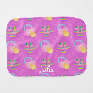 Paño rosado y púrpura del Burp del bebé Paños Para Bebé