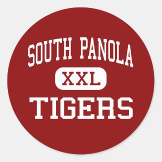 Panola del sur - tigres - joven - Batesville Pegatina Redonda