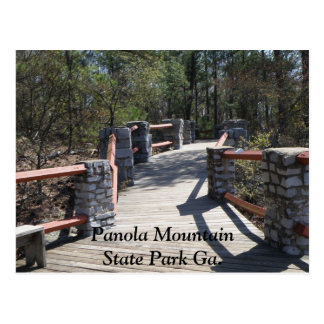 Panola Mountain State Park Ga. Bridge Postcard