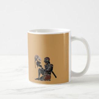 Panoply - Ancient Greek hoplite soldier sitting Coffee Mug