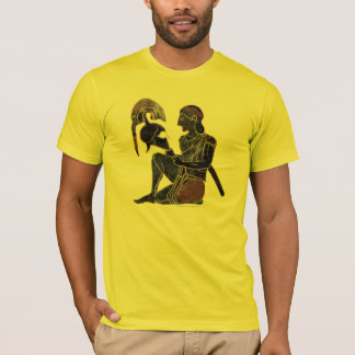 Panoply - Ancient Greek hoplite soldier sitting T-Shirt