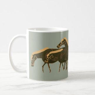 Panoply -  Ancient Greek vase horses grazing Coffee Mug