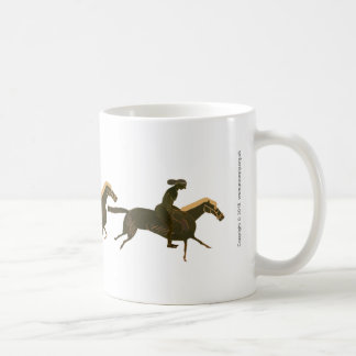 Panoply - Galloping ancient horses with Riders Coffee Mug