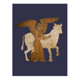 Panoply - The Greek goddess Nike with a bull Postcard
