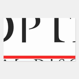 PANOPTIKON - Industrial Discotheque Rectangular Sticker