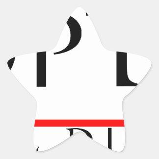PANOPTIKON - Industrial Discotheque Star Sticker