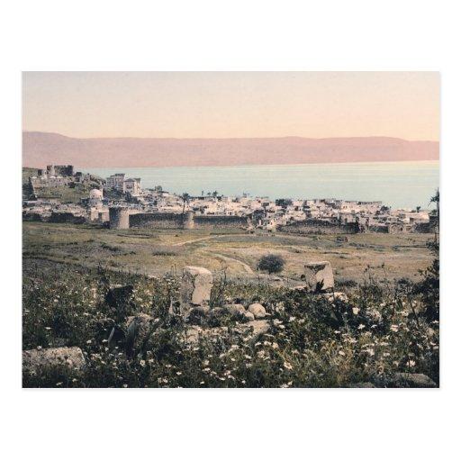 panorama 1890 de Tiberíades Israel del vintage de  Tarjetas Postales