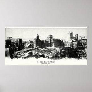 Panorama 1898 de Nueva York Póster
