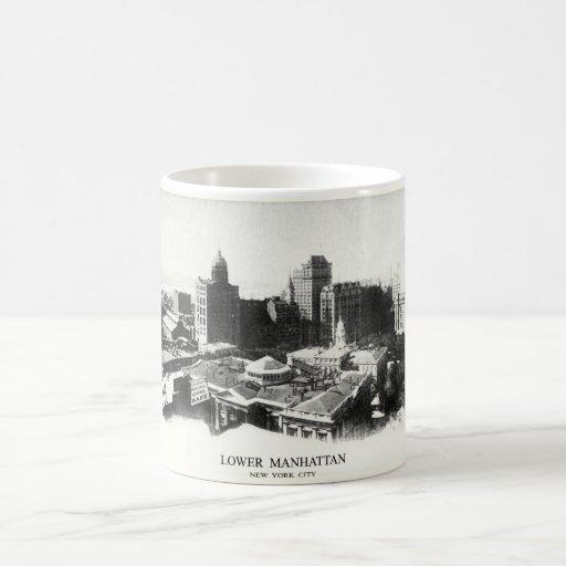 Panorama 1898 de Nueva York Taza De Café