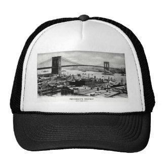Panorama 1900 del puente de Brooklyn Gorras De Camionero