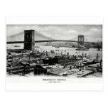 Panorama 1900 del puente de Brooklyn Postal
