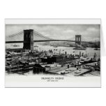 Panorama 1900 del puente de Brooklyn Tarjeton