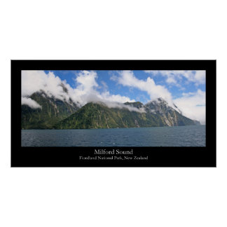 Panorama 1 de Milford Sound Posters