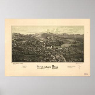 Panorama antiguo de Haydenville Massachusetts 1886 Póster