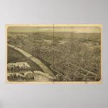 Panorama antiguo de Pennsylvania 1889 de la Wilkes Posters