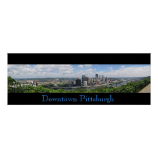 Panorama céntrico de Pittsburgh Posters