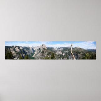 Panorama colosal de Yosemite Póster