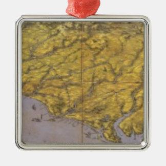 Panorama compuesto de Seat de la guerra Adorno Cuadrado Plateado