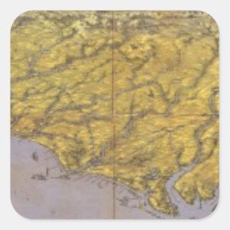 Panorama compuesto de Seat de la guerra Calcomanías Cuadradas