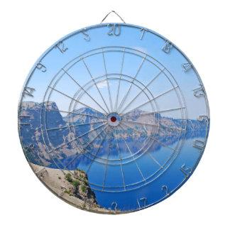 Panorama Crater Lake Dartboard With Darts