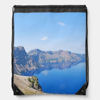 Panorama Crater Lake Drawstring Bag