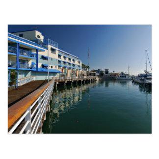 Panorama cuadrado del puerto deportivo de Jack Tarjeta Postal