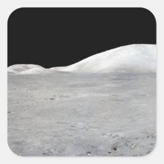 Panorama de Apolo 17 Calcomania Cuadradas Personalizadas