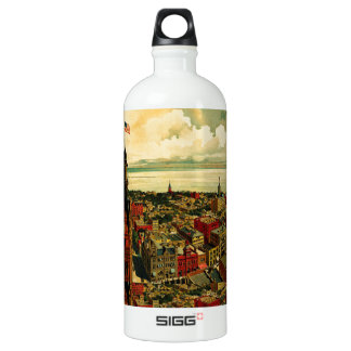 Panorama de Birdseye de Milwaukee (1898) Botella De Agua