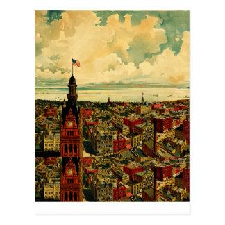 Panorama de Birdseye de Milwaukee (1898) Postal