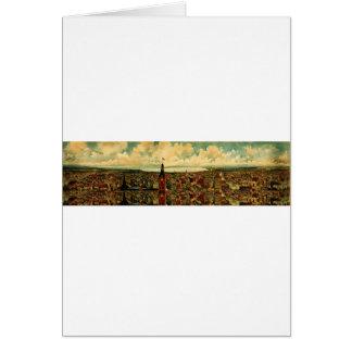 Panorama de Birdseye de Milwaukee (1898) Tarjeta De Felicitación