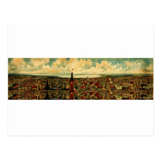Panorama de Birdseye de Milwaukee (1898) Tarjetas Postales