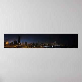 Panorama de Chicago Póster