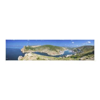 Panorama de Crimea Ucrania de la bahía de Balaklav Impresión De Lienzo