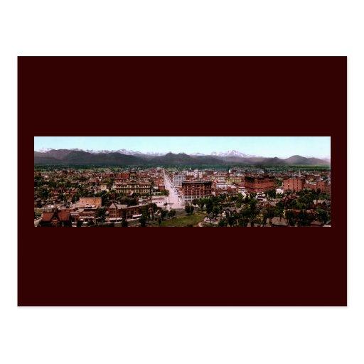 Panorama de Denver Colorado Tarjetas Postales