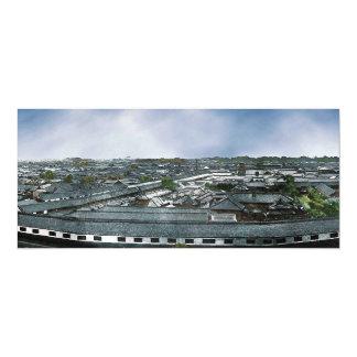 """Panorama de Edo ahora Tokio que muestra la Invitación 4"""" X 9.25"""""""