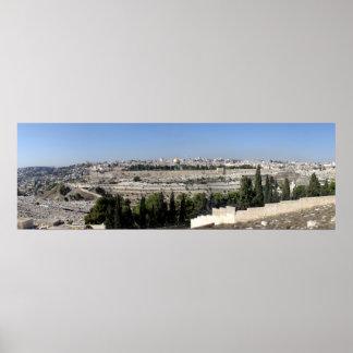 Panorama de Jerusalén Posters