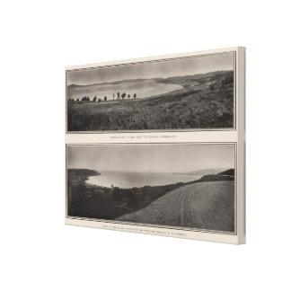 Panorama de la bahía del Golden Gate de Presidio Impresión En Tela
