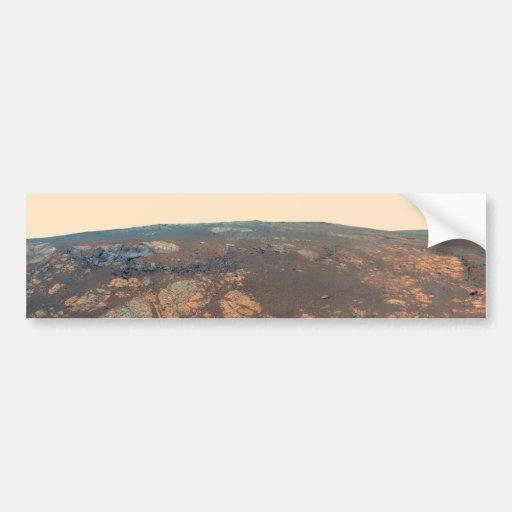 Panorama de la colina de Matijevic de Marte Rover Pegatina De Parachoque