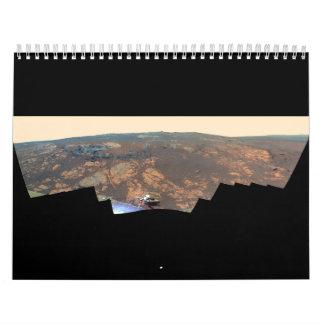 Panorama de la colina de Matijevic de Marte Rover Calendarios